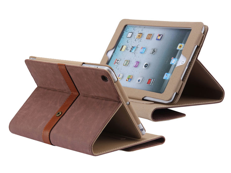 Classic Style Stand Case Hoes voor iPad Mini