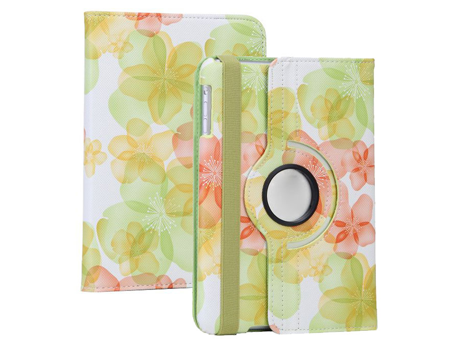 Flower Swivel Stand 360 Case - iPad mini 1/2/3 hoesje