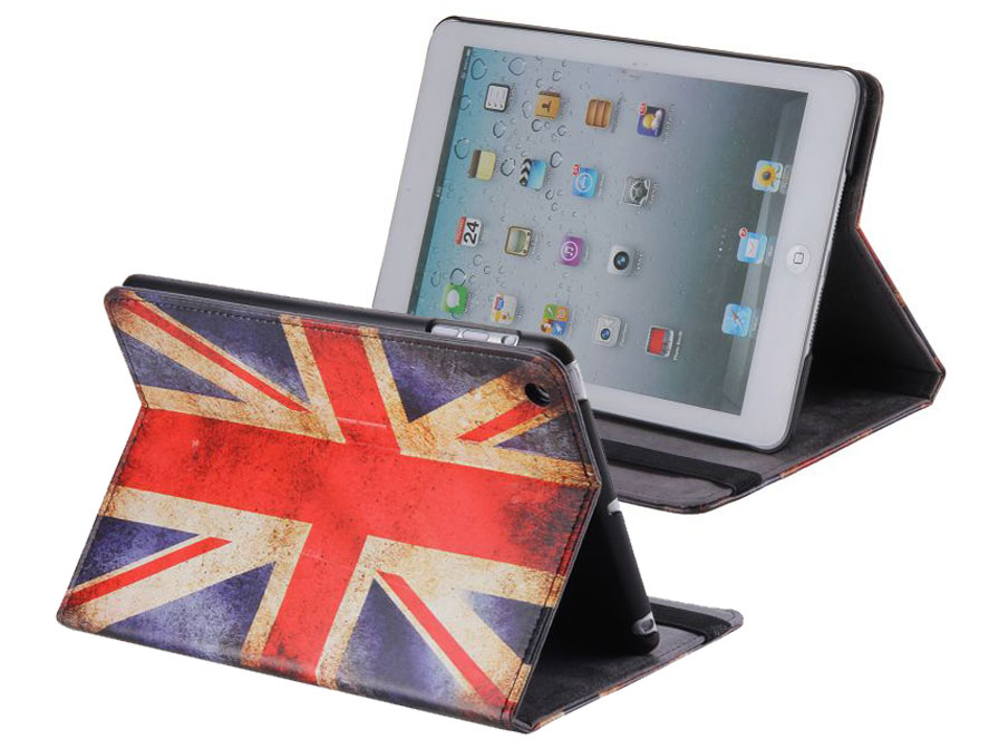 Great Brittain Vintage Vlag Stand Case - Hoesje voor iPad mini