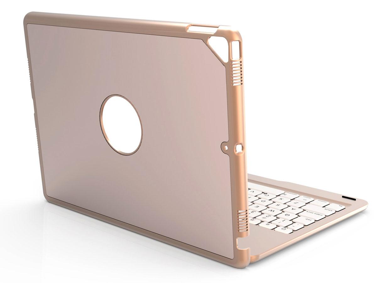 Bluetooth Toetsenbord Case Goud - iPad 10.2 2019/2020 Hoesje