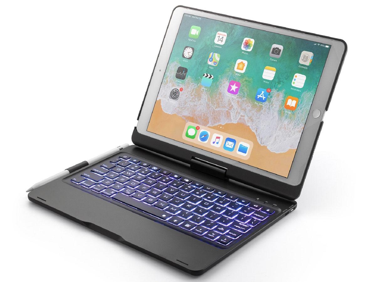 Bluetooth Toetsenbord Case 360 Zwart - iPad 10.2 2019/2020 Hoesje