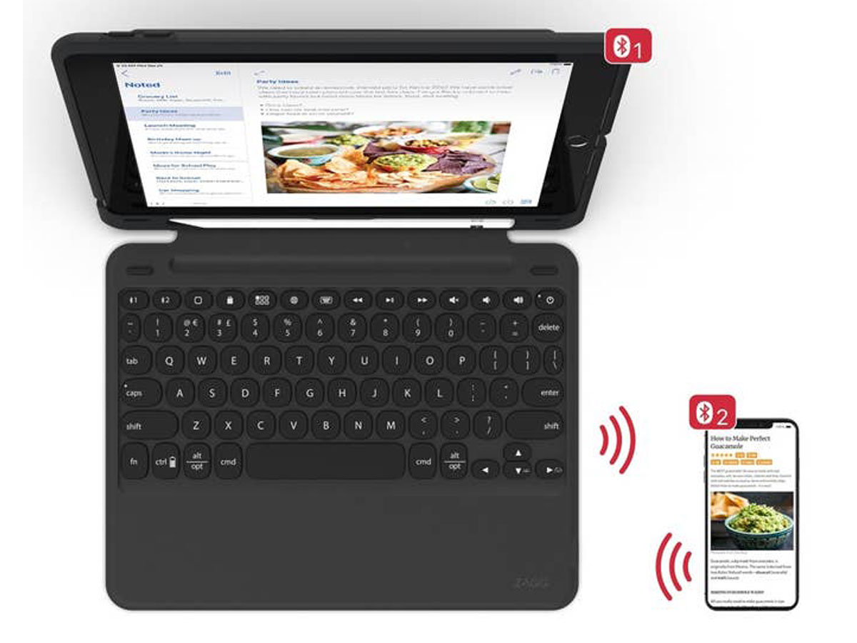 ZAGG Slim Book Go Keyboard Case AZERTY - iPad 10.2 Toetsenbord Hoesje
