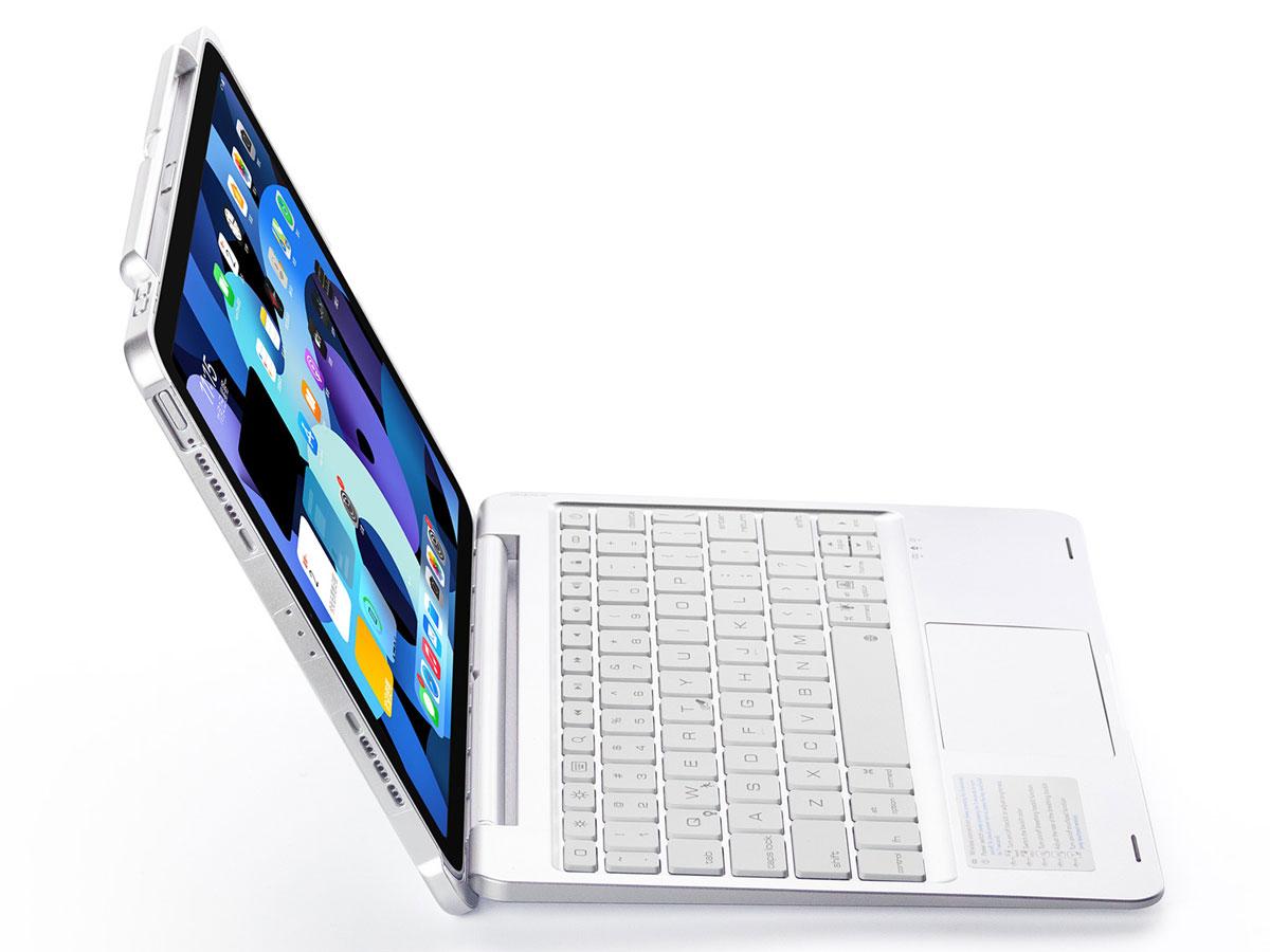 Toetsenbord Case met Muis Trackpad Zilver - iPad Pro 11 Hoesje