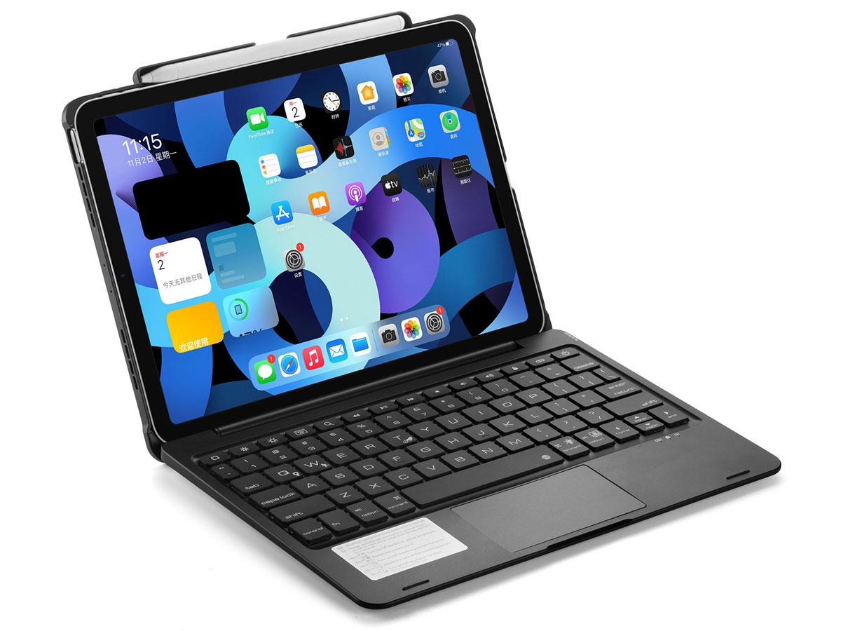 Toetsenbord Case met Muis Trackpad Zwart - iPad Air 4 (2020) Hoesje