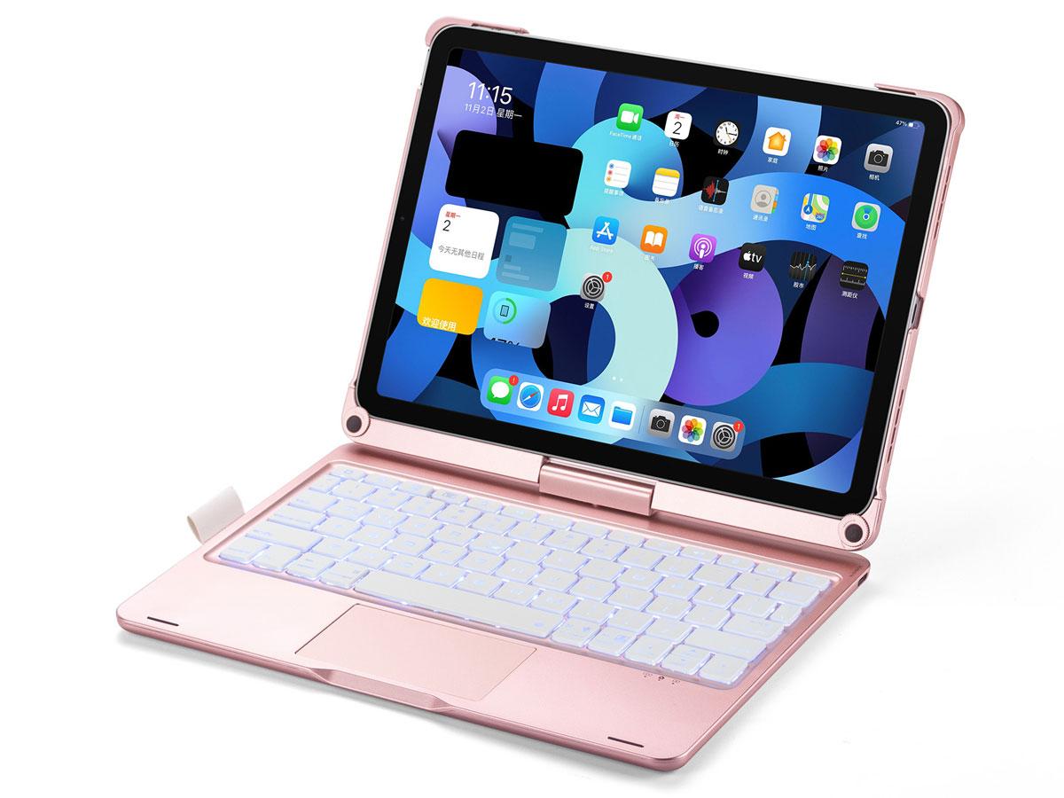 Toetsenbord Case 360 met Muis Trackpad Roze - iPad Air 4 (2020) Hoesje