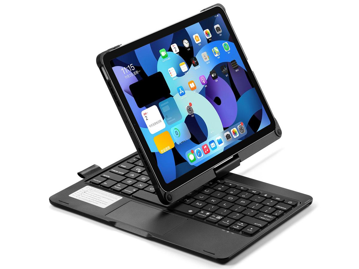 Toetsenbord Case 360 met Muis Trackpad Zwart - iPad Air 4 (2020) Hoesje