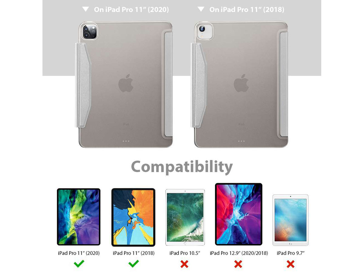ESR Yippee Color Case Zilver - iPad Pro 11 2018/2020 hoesje