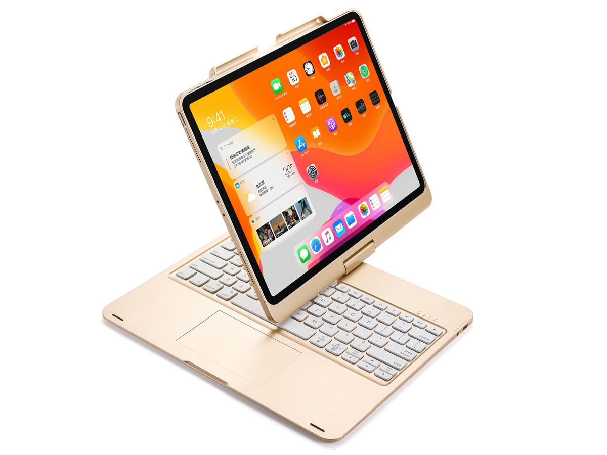Toetsenbord Case 360 met Muis Trackpad Goud - iPad Pro 11 (2018/2020) Hoesje