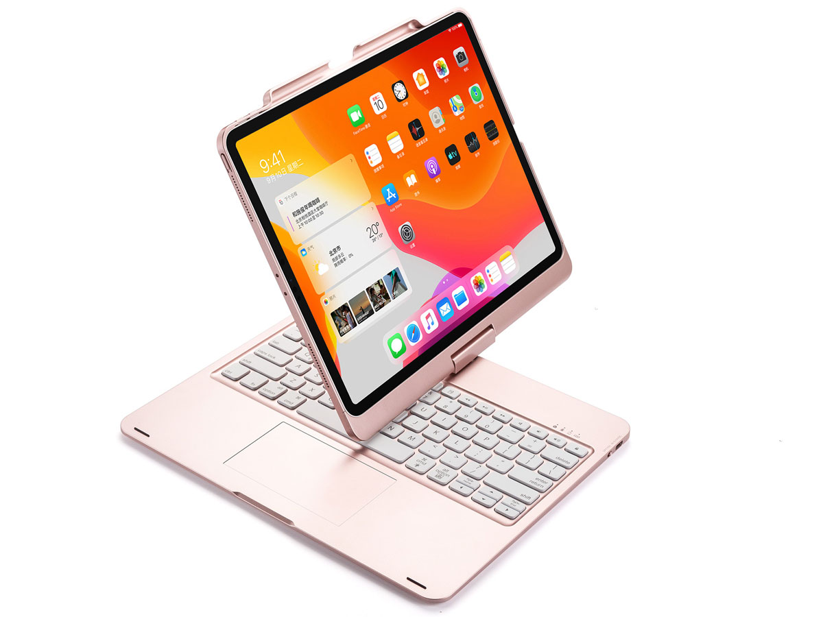 iPad Pro 11 2020 Toetsenbord Case 360 met Muis Rosé