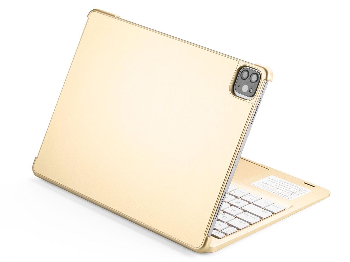 Toetsenbord Case met Muis Trackpad Goud - iPad Pro 11 Hoesje