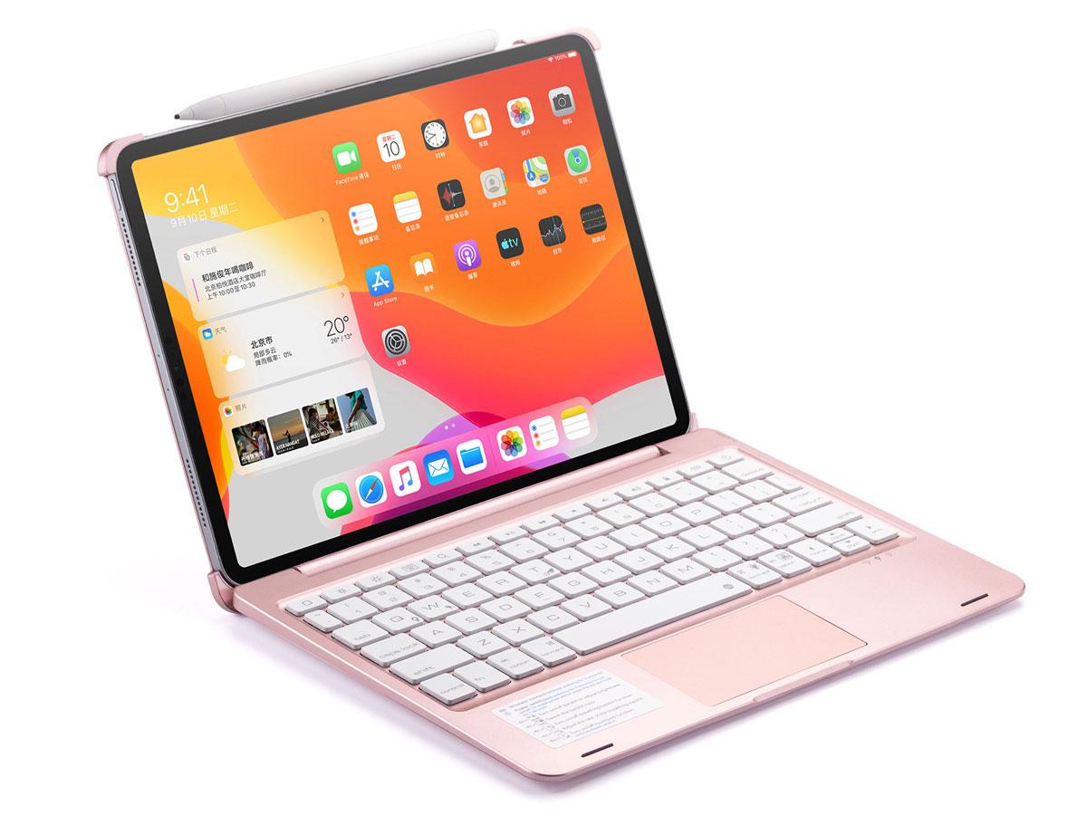 iPad Pro 11 2020 Toetsenbord Case met Trackpad Rosé