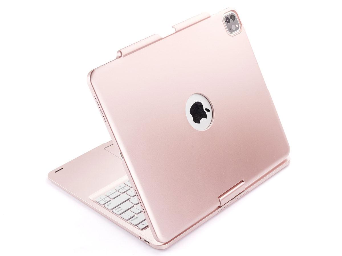 iPad Pro 12.9 2020 Toetsenbord Case 360 met Muis Rosé
