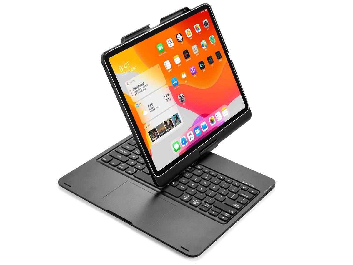 Toetsenbord Case 360 met Muis Trackpad Zwart - iPad Pro 12.9 (2018/2020) Hoesje