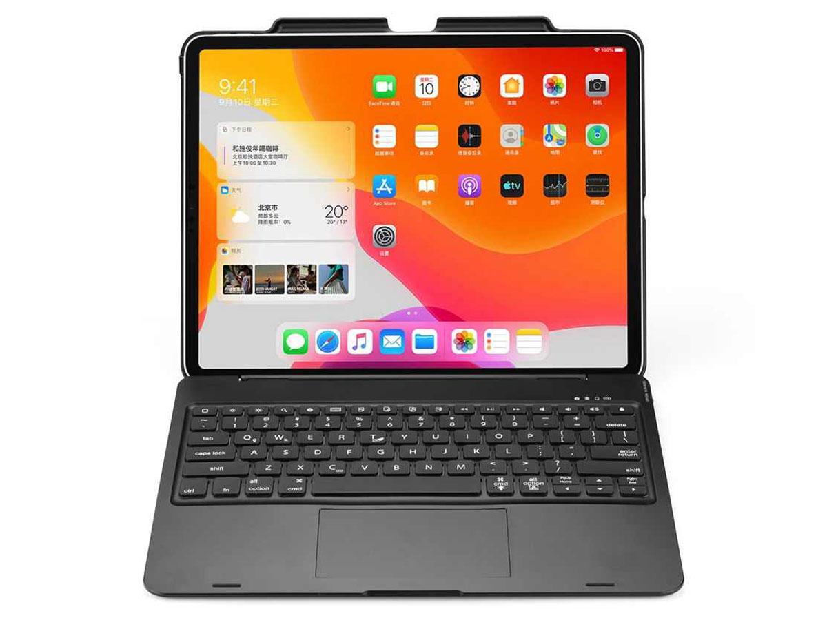 Toetsenbord Case met Muis Trackpad Zwart - iPad Pro 12.9 (2018/2020) Hoesje