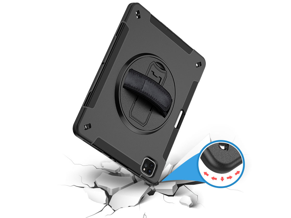 Airstrap Handvat Case - Rugged iPad Pro 12.9 2018/2020 Hoes