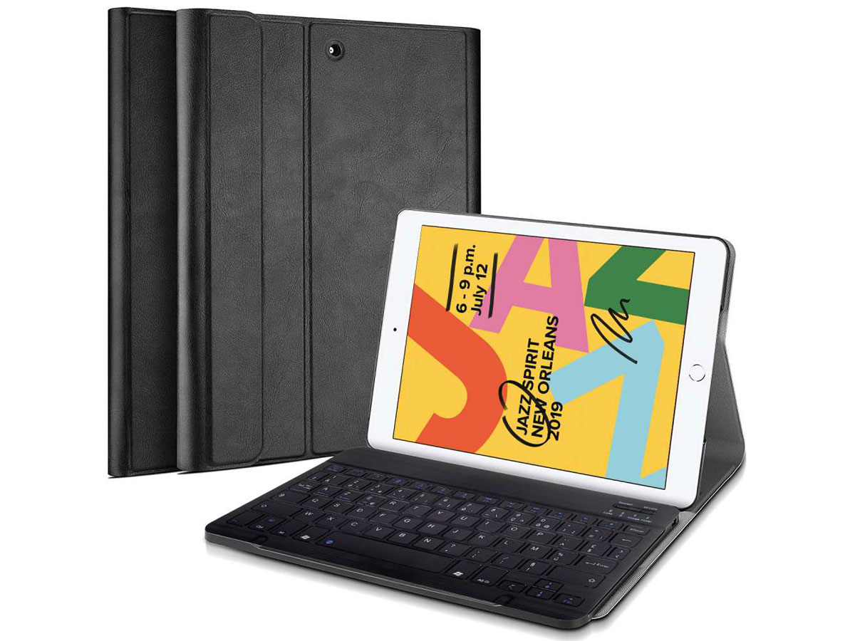 Keyboard Case AZERTY - iPad 10.2 (2019/2020) Toetsenbord Hoesje Zwart
