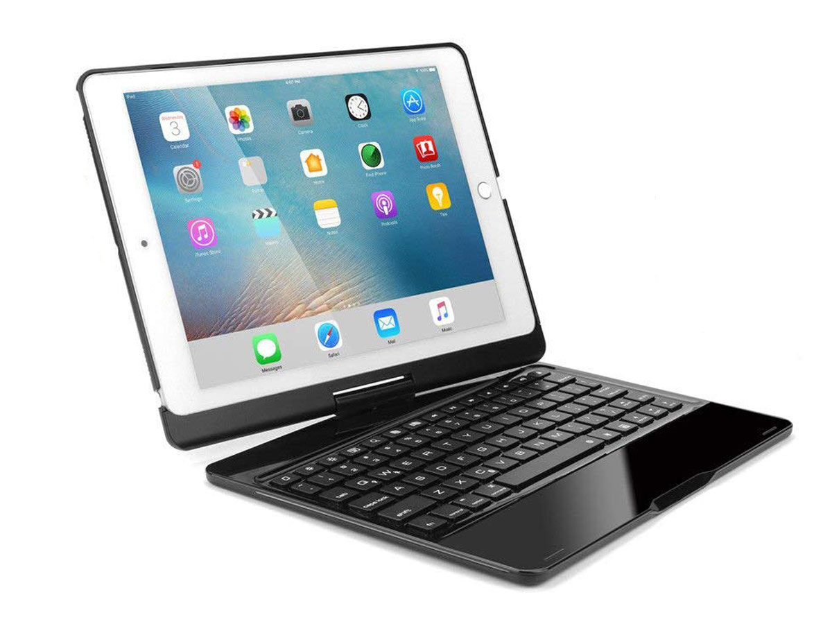 Bluetooth Toetsenbord Case 360 Zwart iPad 9,7