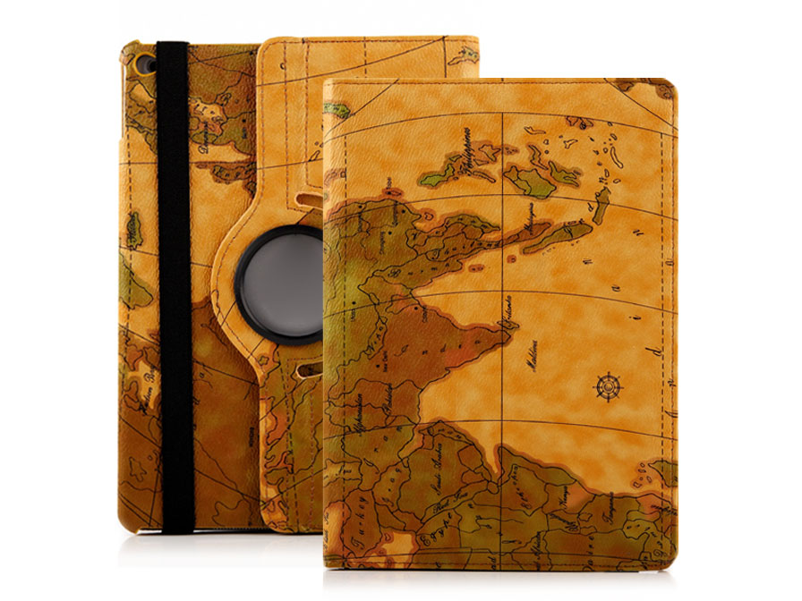 Antique World Map Swivel Stand Case - iPad Air 2 Hoes