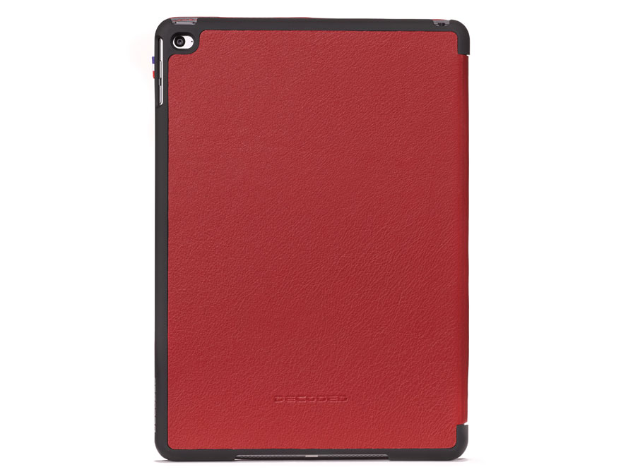 Decoded iPad Air 2 Hoesje Slim Cover Leren Case (Rood)