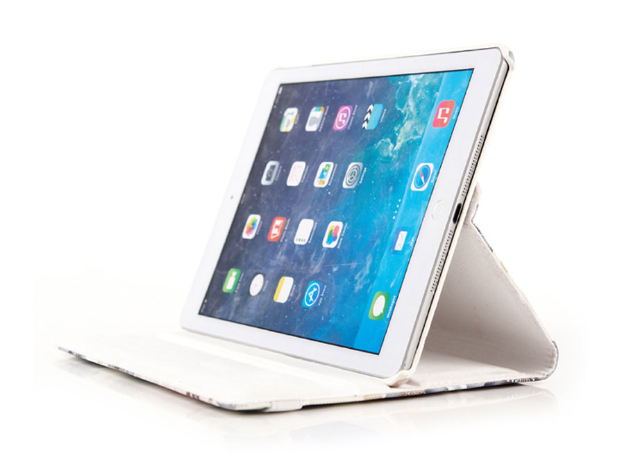Flower Swivel Stand Case - iPad Air 2 Hoes