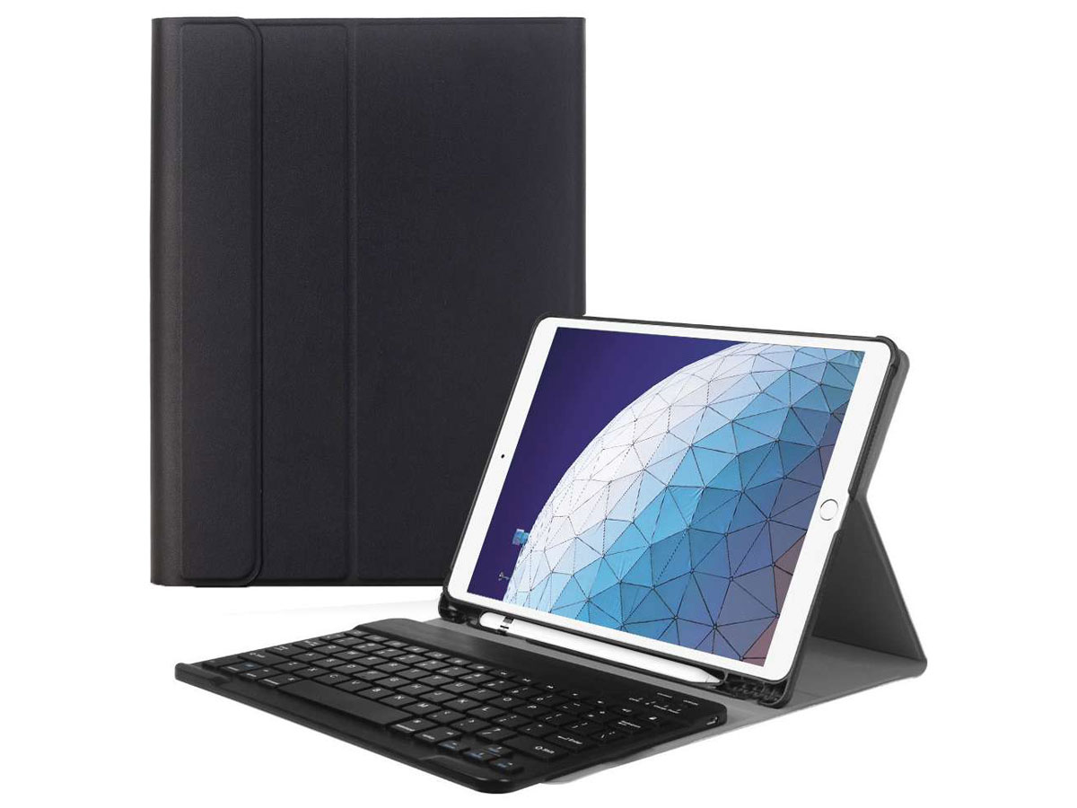 Keyboard Case AZERTY - iPad Air 3 2019 Toetsenbord Hoesje (Pencil) Zwart