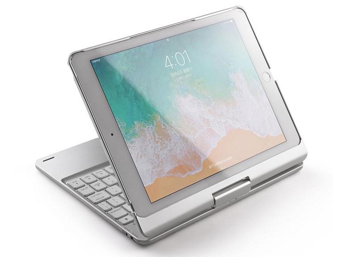 Bluetooth Toetsenbord Case 360 Zilver - iPad Air 3 Toetsenbord Hoesje