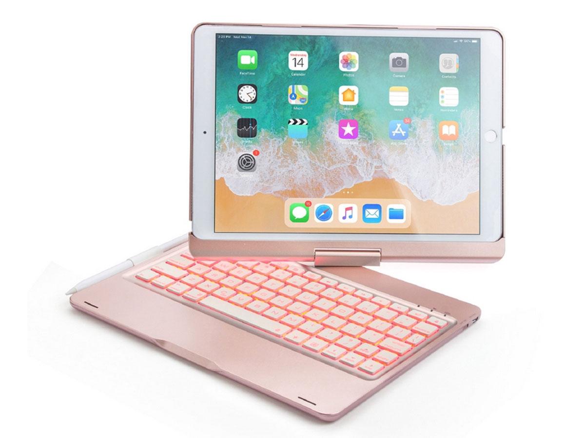 Bluetooth Toetsenbord Case 360 Rosé - iPad Air 3 Toetsenbord Hoesje