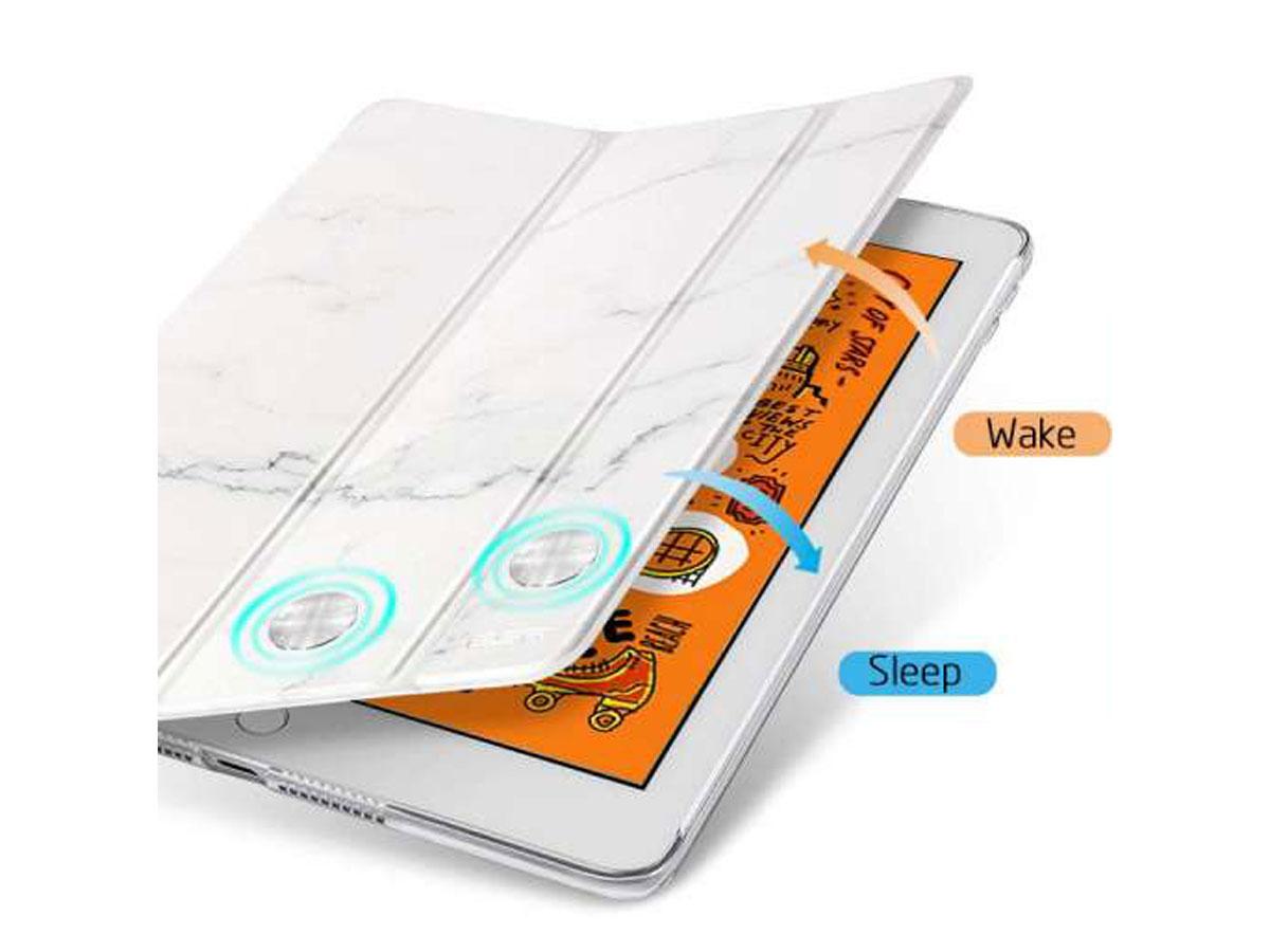 ESR White Marble Case - iPad mini 5 (2019) hoesje