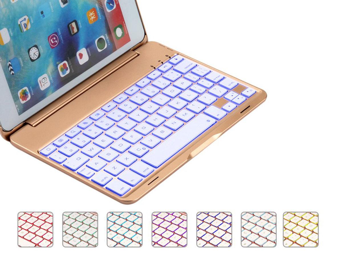 Bluetooth Toetsenbord Case Goud iPad Mini 4 Toetsenbord Hoesje