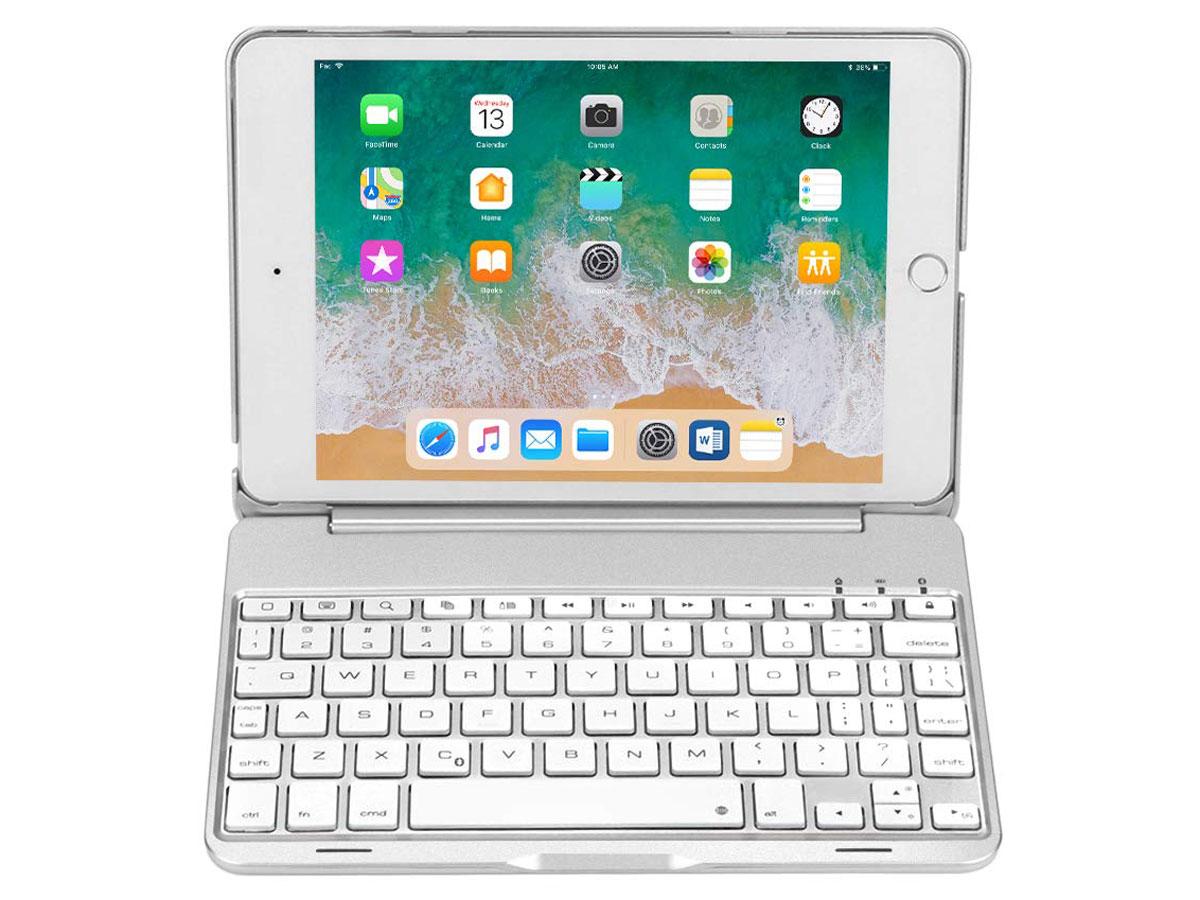 Bluetooth Toetsenbord Case Zilver iPad Mini 4 Toetsenbord Hoesje