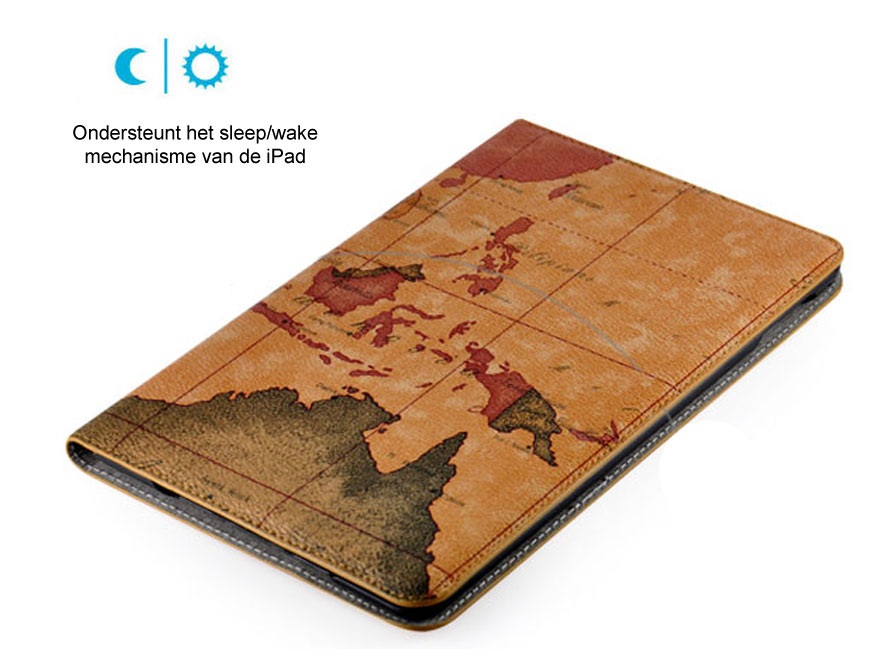 Antique World Map Stand Case - iPad Mini 4 Hoesje