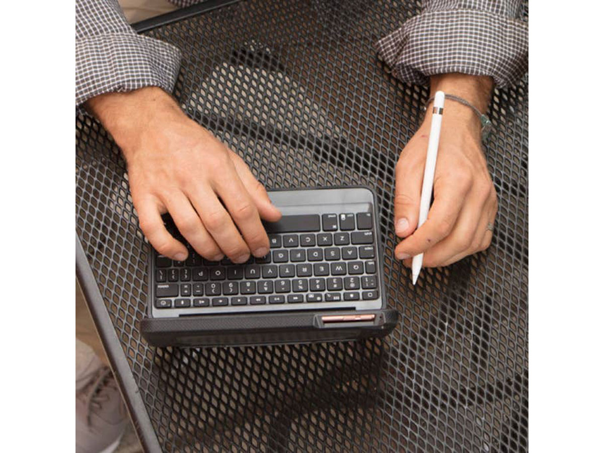 ZAGG Rugged Book Keyboard Case - iPad Mini 4 Toetsenbord Hoesje