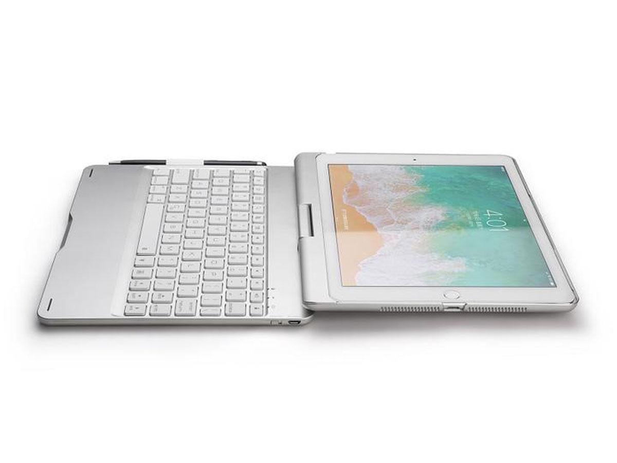 Keyboard 360 Case iPad Pro 10.5 Toetsenbord Hoes Zilver