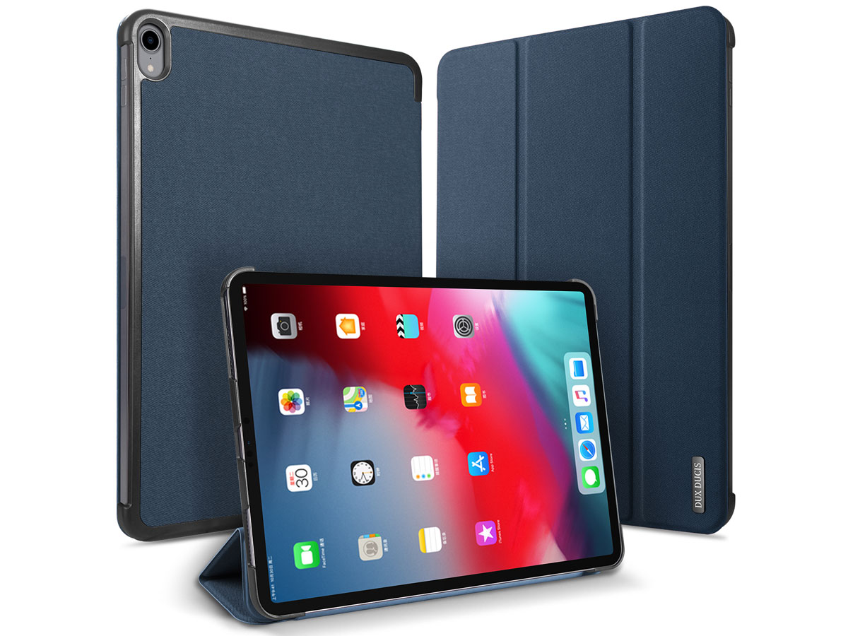 Dux Ducis Trifold Case Navy - iPad Pro 11 2018 hoesje Donkerblauw