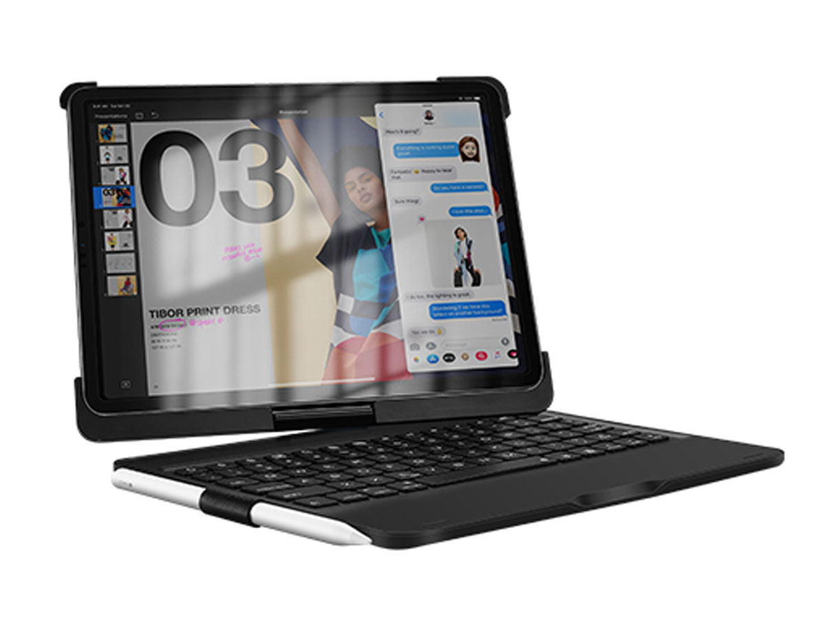 Bluetooth Toetsenbord Case 360 Zwart - iPad Pro 11 2018 Hoesje
