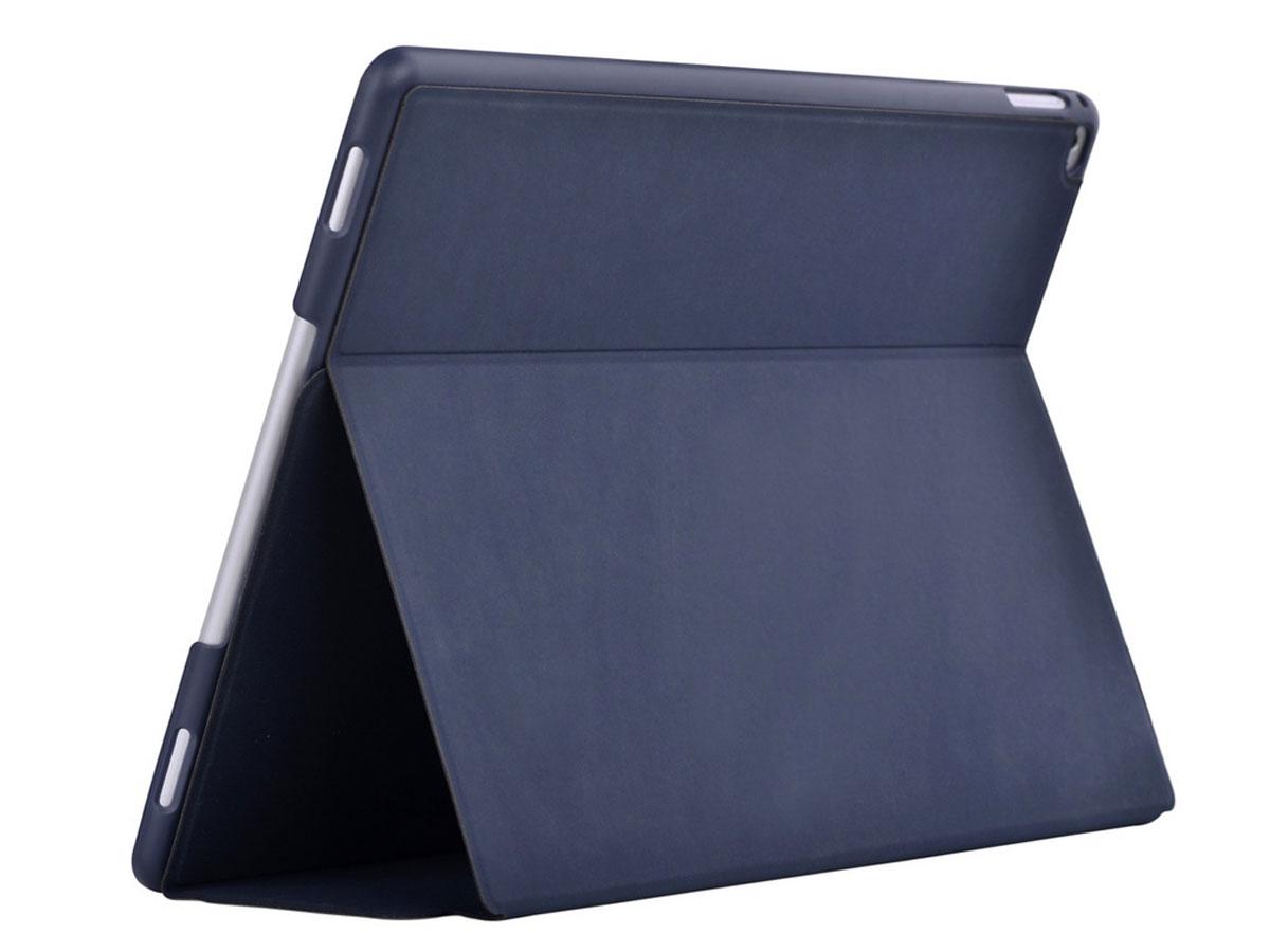 Comma Elegant Leather Case Blauw - iPad Pro 12.9 (2015/2017) hoesje