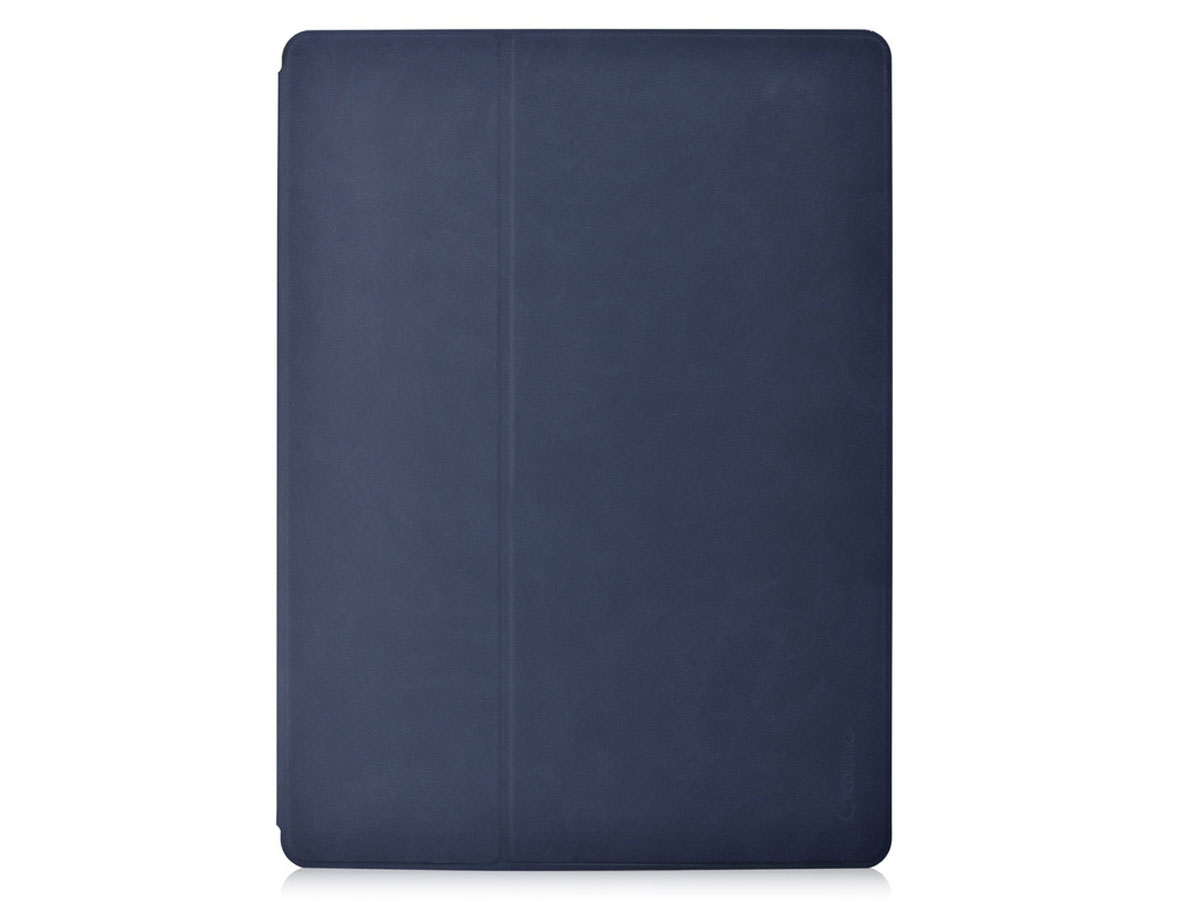Comma Elegant Leather Case Blauw - iPad Pro 12.9 (2015/2017) hoesje Donkerblauw