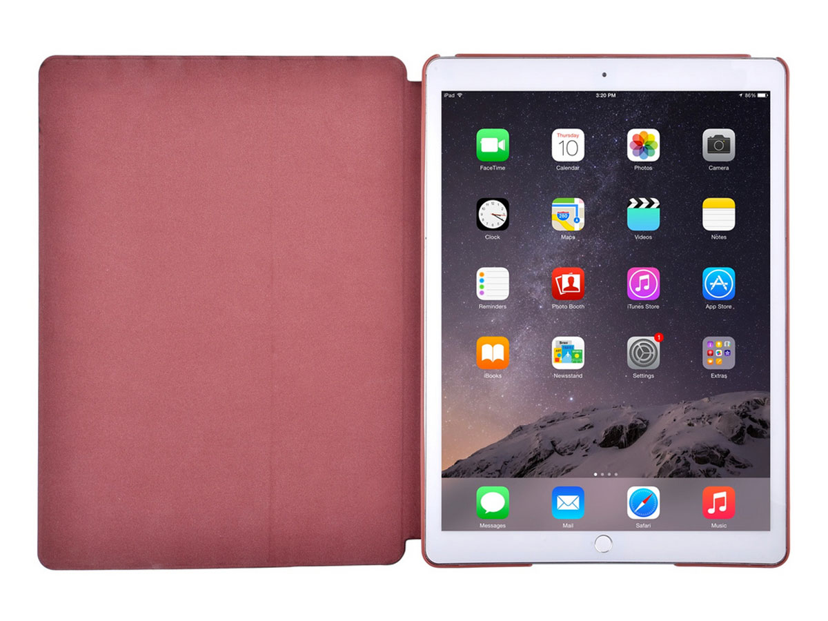 Comma Elegant Leather Case Rood - iPad Pro 12.9 (2015/2017) hoesje