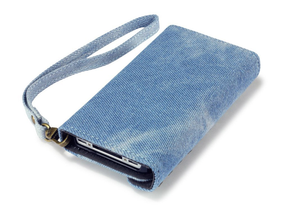 Covert Studded Denim Trifold Wallet Case voor iPhone 4/4S