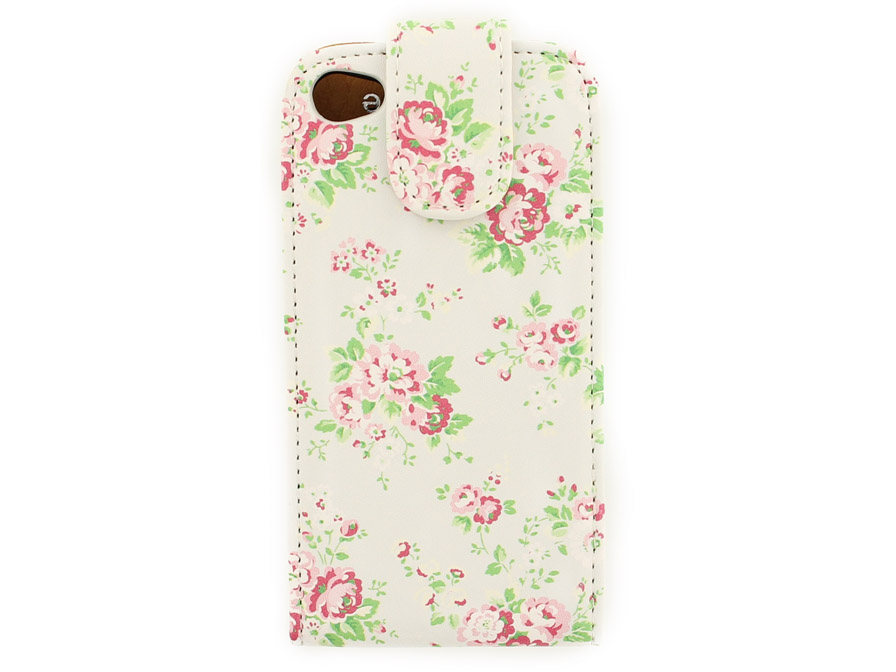 Flower Flip Case voor iPhone 4/4S