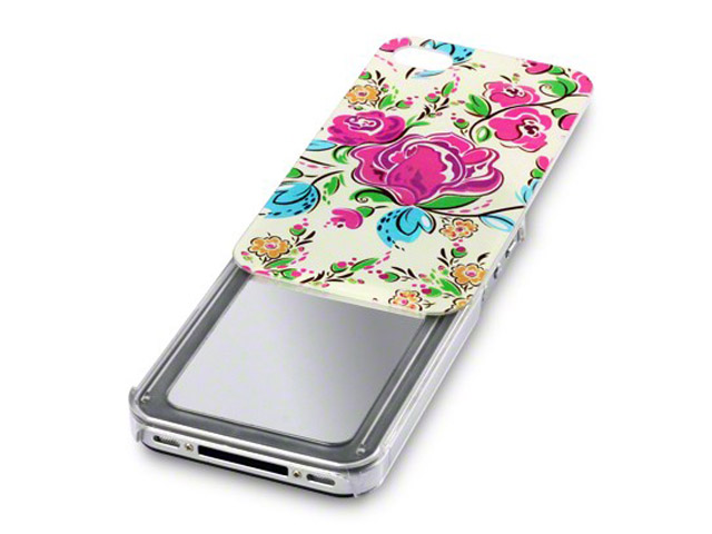 Call Candy Floral Slide-Out Spiegel Case Hoesje voor iPhone 4/4S