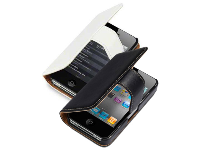 Classic Leather Sideflip Case voor iPhone 4/4S