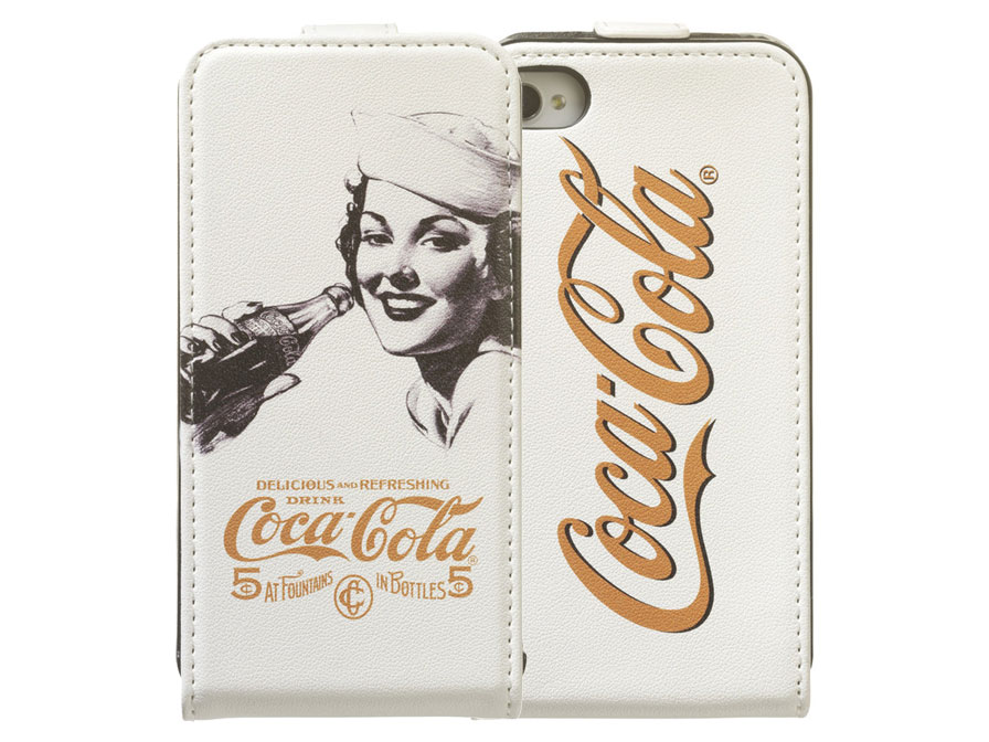 Coca-Cola Golden Beauty Flip Case Hoesje voor iPhone 4/4S