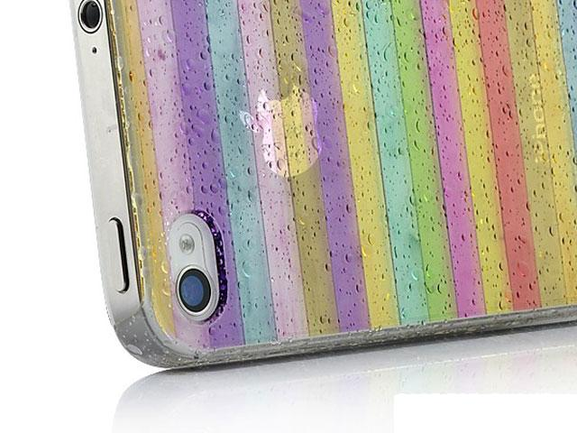 Colorful Stripes Transparant White-Only Case voor iPhone 4/4S