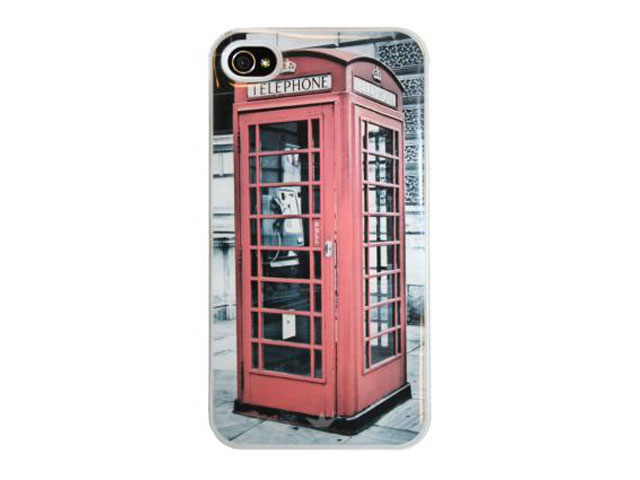 Dresz London Phone Booth Hard Case Hoes Cover iPhone 4/4S