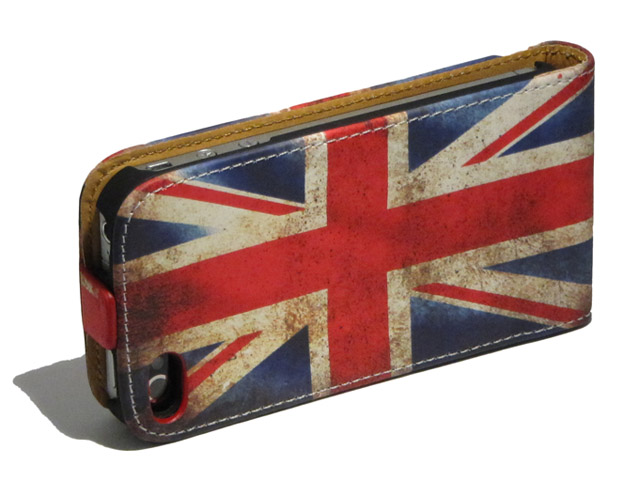 Great Brittain Vintage Flip Case voor iPhone 5/5S