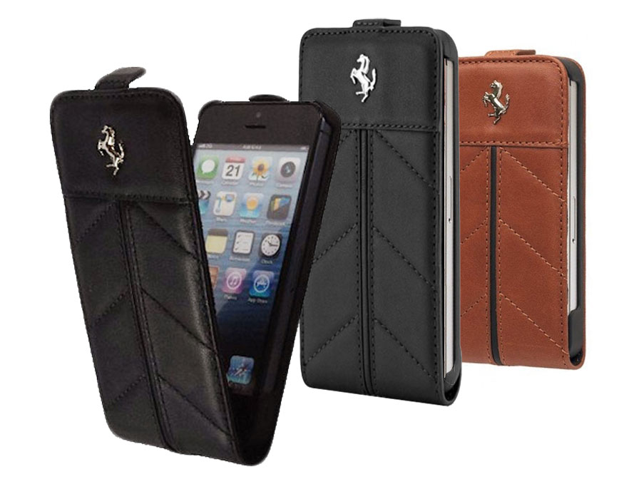 Ferrari California Series Leren Flip Case voor iPhone 4/4S