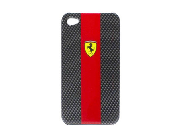 Ferrari Carbon Effect Back Case voor iPhone 4/4S