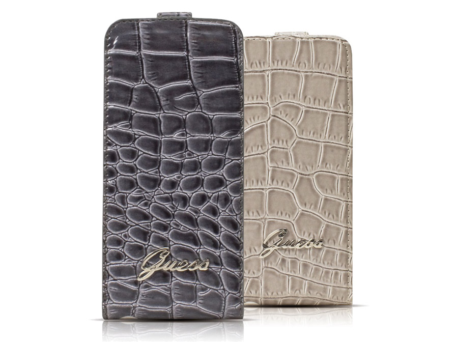 Guess Glossy Croco Flip Case Hoesje voor iPhone 4/4S