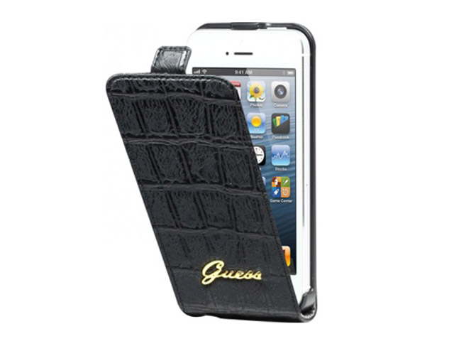 Guess Matte Croco Flip Case voor iPhone 4/4S